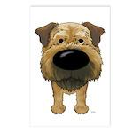 Big Nose Border Terrier Postcards (Package of 8)
