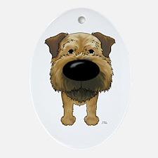 Big Nose Border Terrier Ornament (Oval)