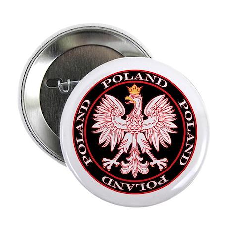 """Round Polish Eagle 2.25"""" Button"""