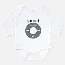 iPod is iPeed Long Sleeve Infant Bodysuit