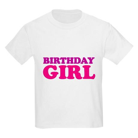 birthday girl (neon) Kids Light T-Shirt