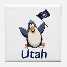Utah Penguin Tile Coaster