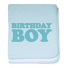 birthday boy (pale) baby blanket