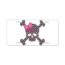 Cute Girly skull Aluminum License Plate