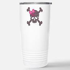 Cute Girly skull Travel Mug