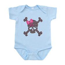 Funny Girly skull Infant Bodysuit