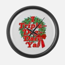 Triple Dog Dare A Christmas Story Large Wall Clock
