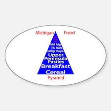 Michigan Food Pyramid Decal