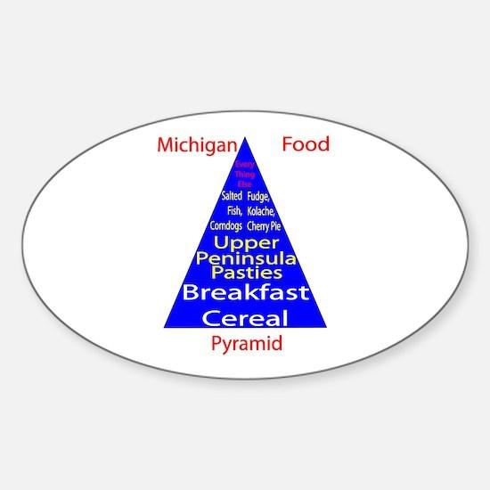Michigan Food Pyramid Sticker (Oval)
