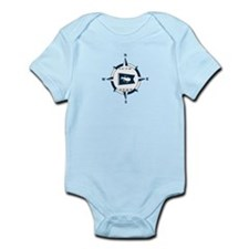 Nantucket MA - Compass Design Infant Bodysuit
