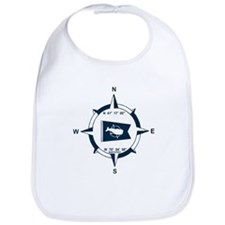 Nantucket MA - Compass Design Bib