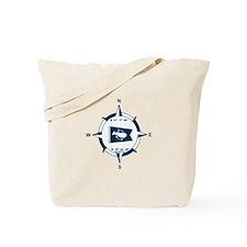 Nantucket MA - Compass Design Tote Bag