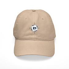 Nantucket MA - Compass Design Baseball Cap