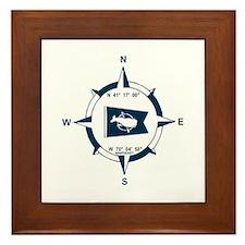 Nantucket MA - Compass Design Framed Tile