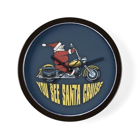 You See Santa Cruise Wall Clock