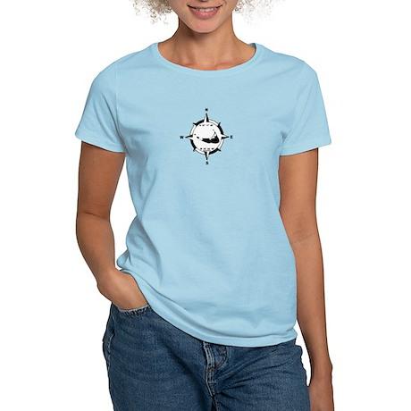 Nantucket MA - Compass Design Women's Light T-Shir