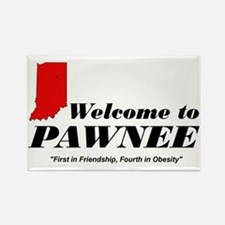 Welcome to Pawnee Rectangle Magnet