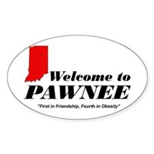 Welcome to Pawnee Decal