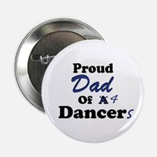 Dad of 4 Dancers Button