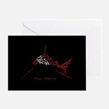 Bull Shark Dive Flag Greeting Card