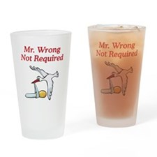 No Mr Wrong Stork Drinking Glass