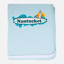 Nantucket MA - Surf Design. baby blanket