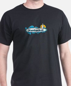 Nantucket MA - Surf Design. T-Shirt