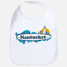 Nantucket MA - Surf Design. Bib