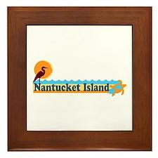 Nantucket MA - Beach Design Framed Tile