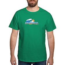 Nantucket MA - Waves Design. T-Shirt
