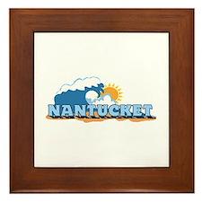 Nantucket MA - Waves Design. Framed Tile