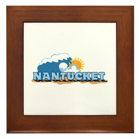 Nantucket MA - Waves Design. Framed Tile
