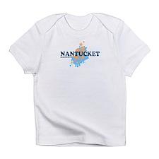 Nantucket MA - Seasshells Design Infant T-Shirt