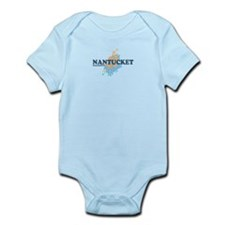 Nantucket MA - Seasshells Design Infant Bodysuit