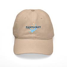 Nantucket MA - Seasshells Design Baseball Cap
