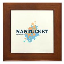 Nantucket MA - Seasshells Design Framed Tile