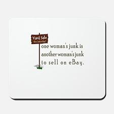 one woman's junk Mousepad