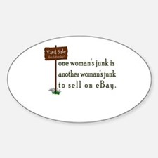one woman's junk Oval Decal