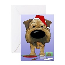 Border Terrier Santa Greeting Card