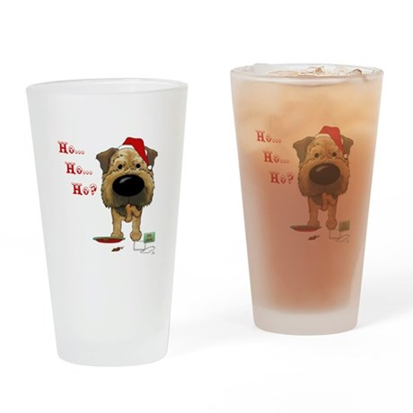 Border Terrier Santa Drinking Glass
