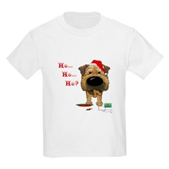 Border Terrier Santa T-Shirt