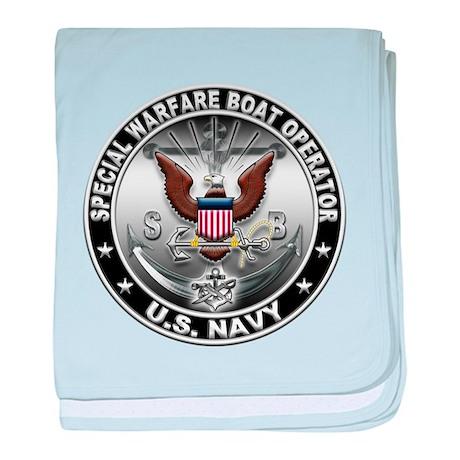 USN Special Warfare Boat Oper baby blanket