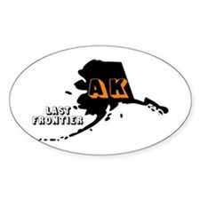 AK LAST FRONTIER Oval Decal