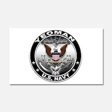USN Yeoman Eagle YN Car Magnet 20 x 12