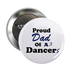 Dad of 3 Dancers Button