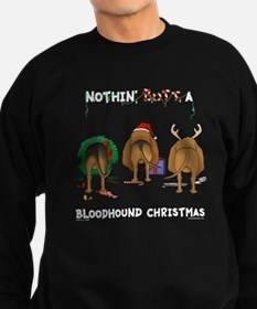 Bloodhound Butt Xmas Sweatshirt (dark)