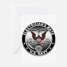 USN Electricians Mate Eagle E Greeting Card
