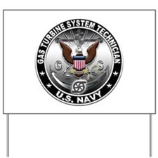 USN Gas Turbine System Techni Yard Sign