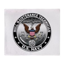 USN Hull Maintenance Technici Throw Blanket