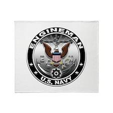 USN Engineman Eagle EN Throw Blanket